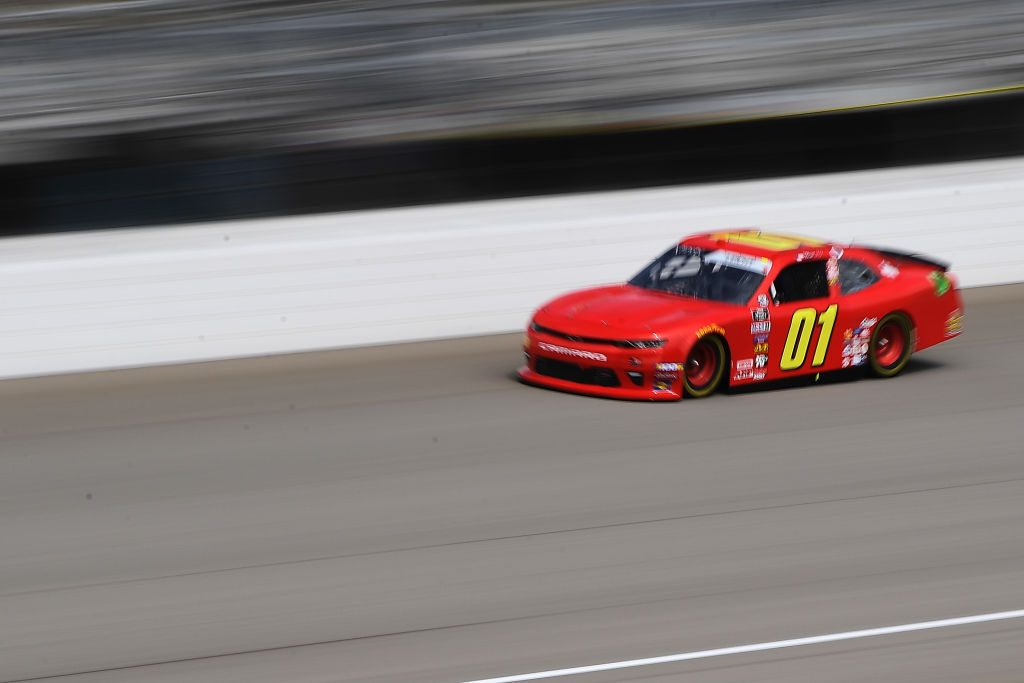 BROOKLYN, MICHIGAN - JUNE 08: Stephen Leicht, driver of the #01 teamjdmotorsports.com Chevrolet, drives during qualifying for the NASCAR Xfinity Series LTi Printing 250 at Michigan International Speedway on June 08, 2019 in Brooklyn, Michigan. (Photo by Stacy Revere/Getty Images) | Getty Images