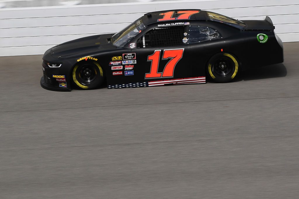 BROOKLYN, MICHIGAN - JUNE 08: Bayley Currey, driver of the #17 RWR Chevrolet, drives during qualifying for the NASCAR Xfinity Series LTi Printing 250 at Michigan International Speedway on June 08, 2019 in Brooklyn, Michigan. (Photo by Stacy Revere/Getty Images) | Getty Images