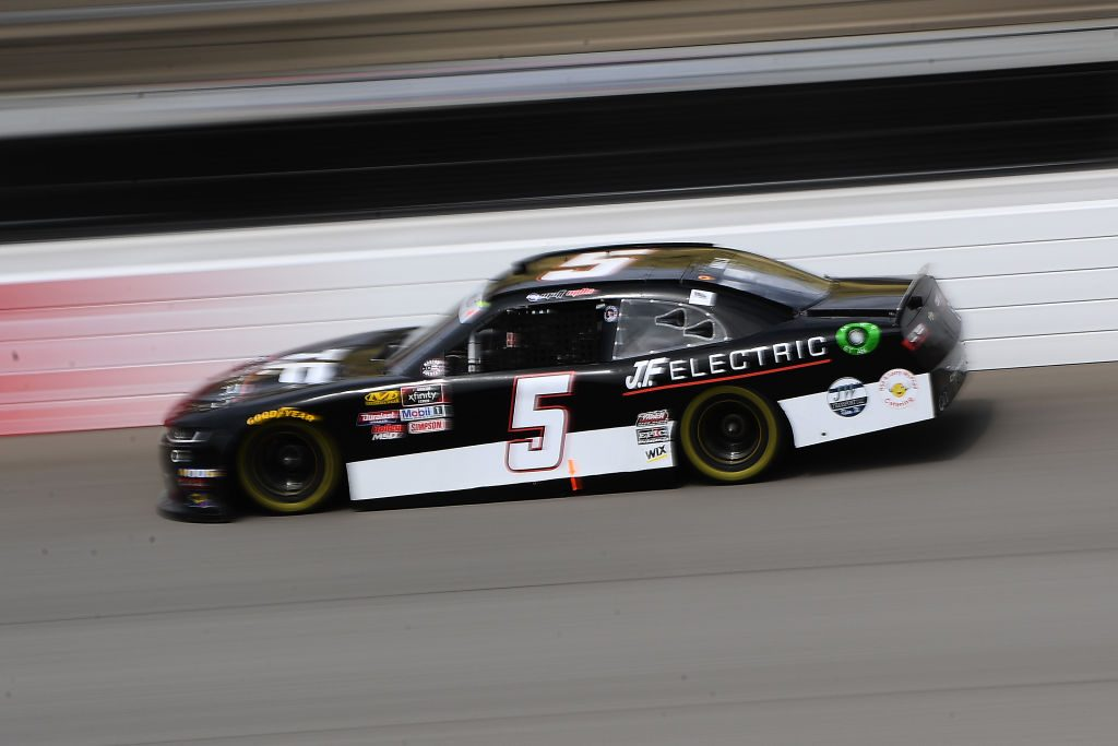 BROOKLYN, MICHIGAN - JUNE 08: Matt Mills, driver of the #5 J.F. Electric Chevrolet, drives during qualifying for the NASCAR Xfinity Series LTi Printing 250 at Michigan International Speedway on June 08, 2019 in Brooklyn, Michigan. (Photo by Stacy Revere/Getty Images) | Getty Images