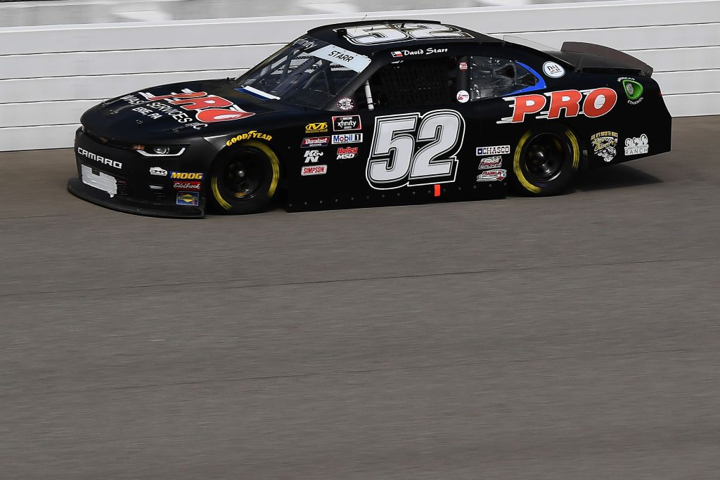 BROOKLYN, MICHIGAN - JUNE 08: David Starr, driver of the #52 Pro Waste Services Inc. Chevrolet, drives during qualifying for the NASCAR Xfinity Series LTi Printing 250 at Michigan International Speedway on June 08, 2019 in Brooklyn, Michigan. (Photo by Stacy Revere/Getty Images) | Getty Images
