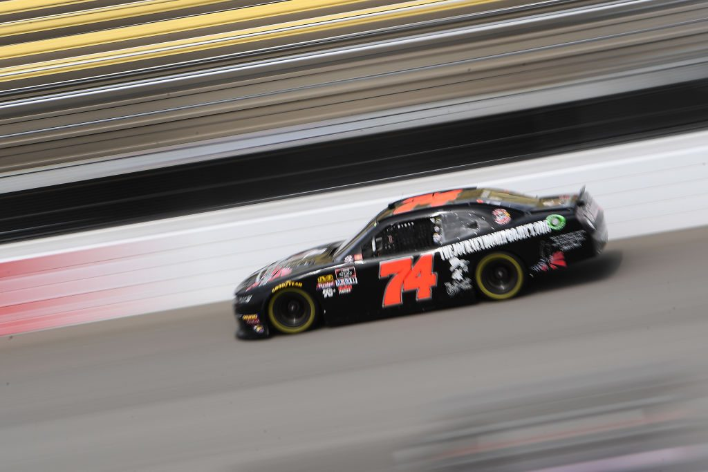 BROOKLYN, MICHIGAN - JUNE 08: Kyle Weatherman, driver of the #74 TheJourneyHomePrjct/CharlieDaniels Chevrolet, drives during qualifying for the NASCAR Xfinity Series LTi Printing 250 at Michigan International Speedway on June 08, 2019 in Brooklyn, Michigan. (Photo by Stacy Revere/Getty Images) | Getty Images