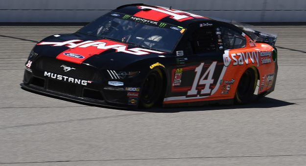 BROOKLYN, MICHIGAN - JUNE 07: Clint Bowyer, driver of the #14 Haas Automation/ITsavvy Ford, drives during practice for the Monster Energy NASCAR Cup Series FireKeepers Casino 400 at Michigan International Speedway on June 07, 2019 in Brooklyn, Michigan. (Photo by Stacy Revere/Getty Images)   Getty Images