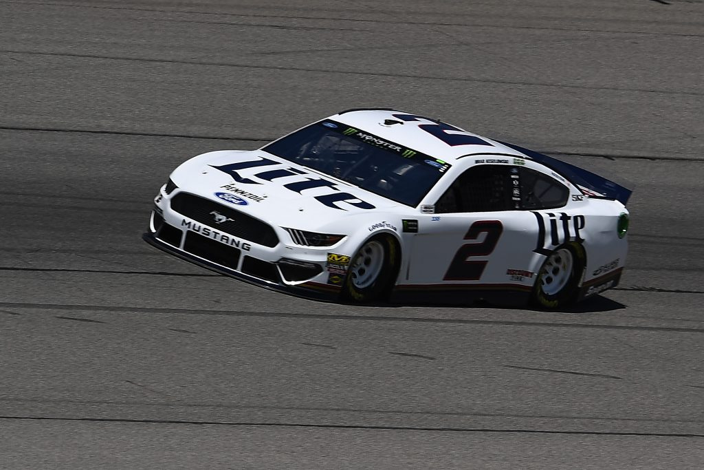 BROOKLYN, MICHIGAN - JUNE 07: Brad Keselowski, driver of the #2 Miller Lite Ford, drives during practice for the Monster Energy NASCAR Cup Series FireKeepers Casino 400 at Michigan International Speedway on June 07, 2019 in Brooklyn, Michigan. (Photo by Stacy Revere/Getty Images) | Getty Images