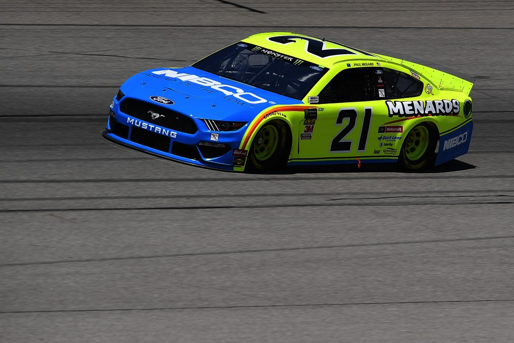 BROOKLYN, MICHIGAN - JUNE 07: Paul Menard, driver of the #21 Menards/NIBCO Ford, drives during practice for the Monster Energy NASCAR Cup Series FireKeepers Casino 400 at Michigan International Speedway on June 07, 2019 in Brooklyn, Michigan. (Photo by Stacy Revere/Getty Images) | Getty Images