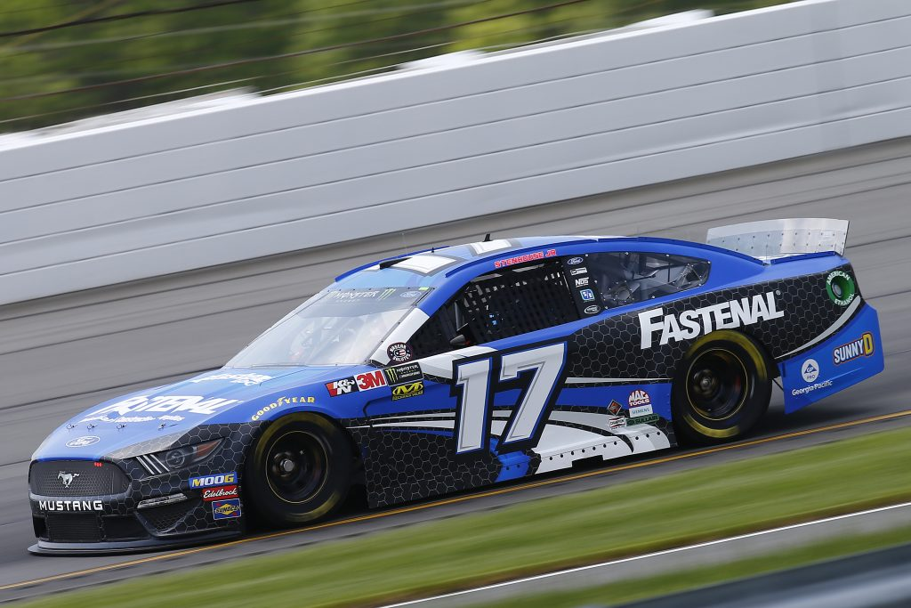 LONG POND, PENNSYLVANIA - MAY 31: Ricky Stenhouse Jr., driver of the #17 Fastenal Ford, practices for the Monster Energy NASCAR Cup Series Pocono 400 at Pocono Raceway on May 31, 2019 in Long Pond, Pennsylvania. (Photo by Jonathan Ferrey/Getty Images) | Getty Images