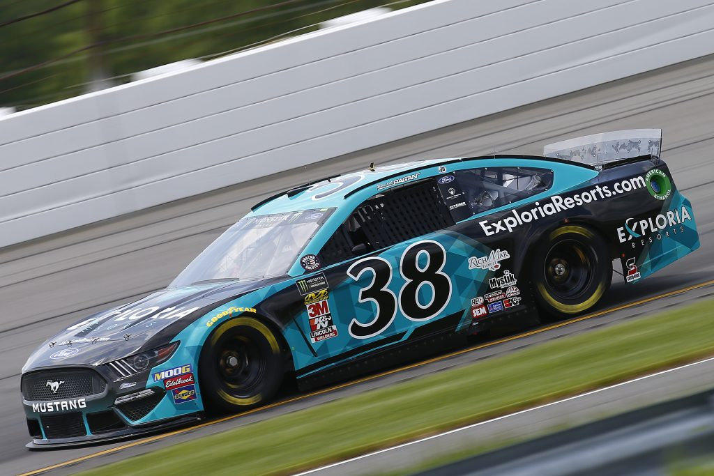 LONG POND, PENNSYLVANIA - MAY 31: David Ragan, driver of the #38 ExploriaResorts.com Ford, practices for the Monster Energy NASCAR Cup Series Pocono 400 at Pocono Raceway on May 31, 2019 in Long Pond, Pennsylvania. (Photo by Jonathan Ferrey/Getty Images) | Getty Images