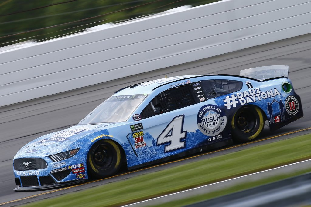 LONG POND, PENNSYLVANIA - MAY 31: Kevin Harvick, driver of the #4 Busch Light Father's Day Ford, practices for the Monster Energy NASCAR Cup Series Pocono 400 at Pocono Raceway on May 31, 2019 in Long Pond, Pennsylvania. (Photo by Jonathan Ferrey/Getty Images) | Getty Images