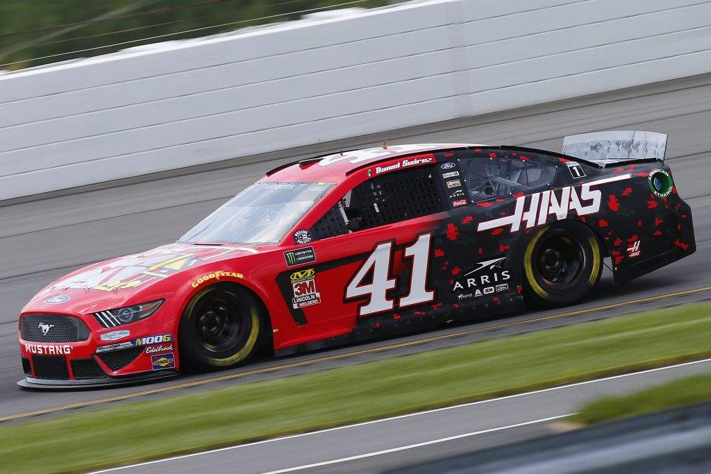 LONG POND, PENNSYLVANIA - MAY 31: Daniel Suarez, driver of the #41 Haas Automation Demo Days Ford, practices for the Monster Energy NASCAR Cup Series Pocono 400 at Pocono Raceway on May 31, 2019 in Long Pond, Pennsylvania. (Photo by Jonathan Ferrey/Getty Images) | Getty Images