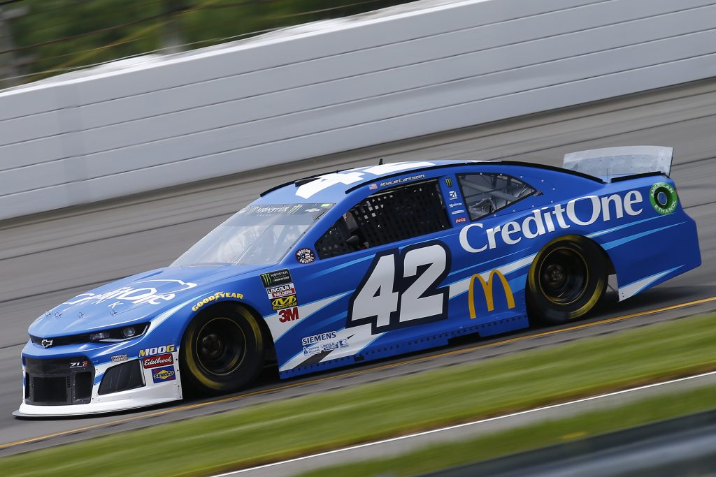 LONG POND, PENNSYLVANIA - MAY 31: Kyle Larson, driver of the #42 Credit One Bank Chevrolet, practices for the Monster Energy NASCAR Cup Series Pocono 400 at Pocono Raceway on May 31, 2019 in Long Pond, Pennsylvania. (Photo by Jonathan Ferrey/Getty Images) | Getty Images