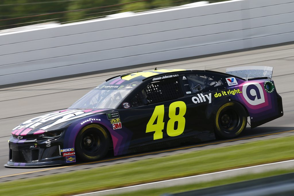 LONG POND, PENNSYLVANIA - MAY 31: Jimmie Johnson, driver of the #48 Ally Chevrolet, practices for the Monster Energy NASCAR Cup Series Pocono 400 at Pocono Raceway on May 31, 2019 in Long Pond, Pennsylvania. (Photo by Jonathan Ferrey/Getty Images) | Getty Images