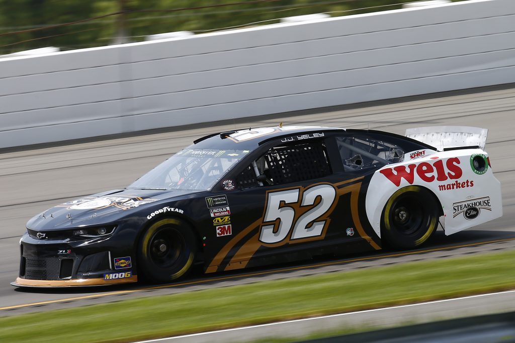 LONG POND, PENNSYLVANIA - MAY 31: JJ Yeley, driver of the #52 Steakhouse Elite Chevrolet, practices for the Monster Energy NASCAR Cup Series Pocono 400 at Pocono Raceway on May 31, 2019 in Long Pond, Pennsylvania. (Photo by Jonathan Ferrey/Getty Images) | Getty Images