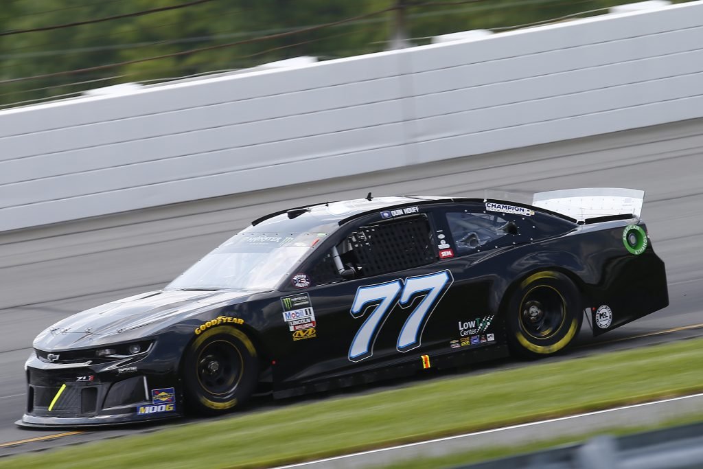 LONG POND, PENNSYLVANIA - MAY 31: Quin Houff, driver of the #77 Spire Motorsports Chevrolet, practices for the Monster Energy NASCAR Cup Series Pocono 400 at Pocono Raceway on May 31, 2019 in Long Pond, Pennsylvania. (Photo by Jonathan Ferrey/Getty Images) | Getty Images
