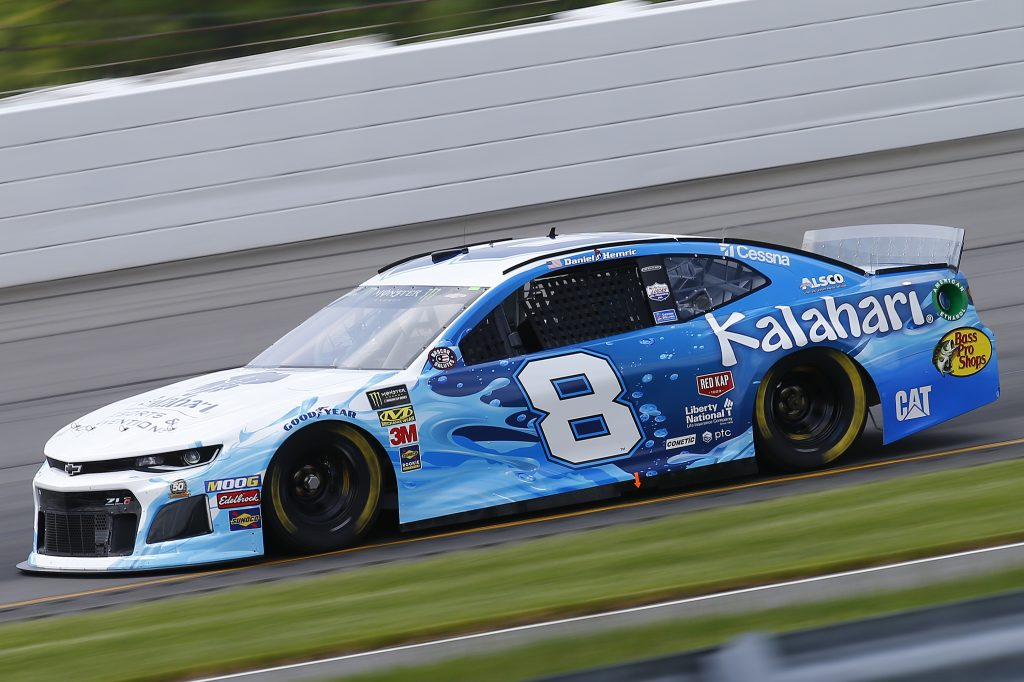 LONG POND, PENNSYLVANIA - MAY 31: Daniel Hemric, driver of the #8 Kalahari Resorts and Conventions Chevrolet, practices for the Monster Energy NASCAR Cup Series Pocono 400 at Pocono Raceway on May 31, 2019 in Long Pond, Pennsylvania. (Photo by Jonathan Ferrey/Getty Images) | Getty Images