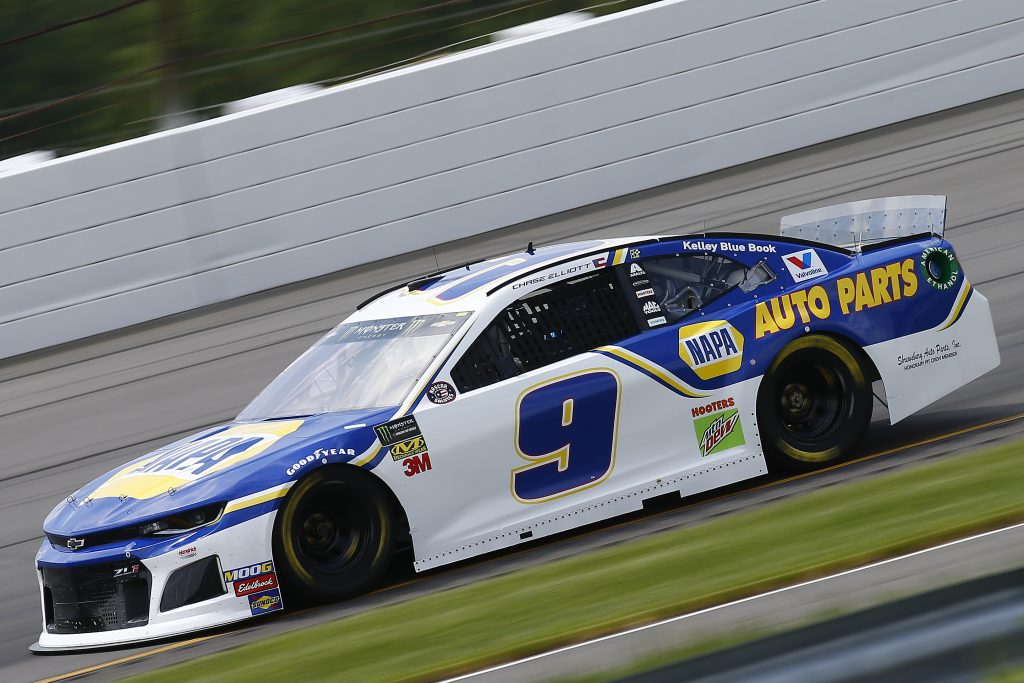 LONG POND, PENNSYLVANIA - MAY 31: Chase Elliott, driver of the #9 NAPA Auto Parts Chevrolet, practices for the Monster Energy NASCAR Cup Series Pocono 400 at Pocono Raceway on May 31, 2019 in Long Pond, Pennsylvania. (Photo by Jonathan Ferrey/Getty Images) | Getty Images