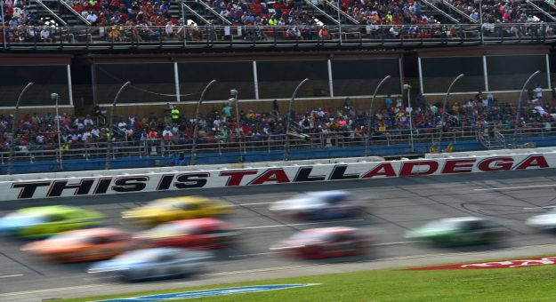 TALLADEGA, AL - APRIL 28:  Cars race during the Monster Energy NASCAR Cup Series GEICO 500 at Talladega Superspeedway on April 28, 2019 in Talladega, Alabama.  (Photo by Jared C. Tilton/Getty Images) | Getty Images