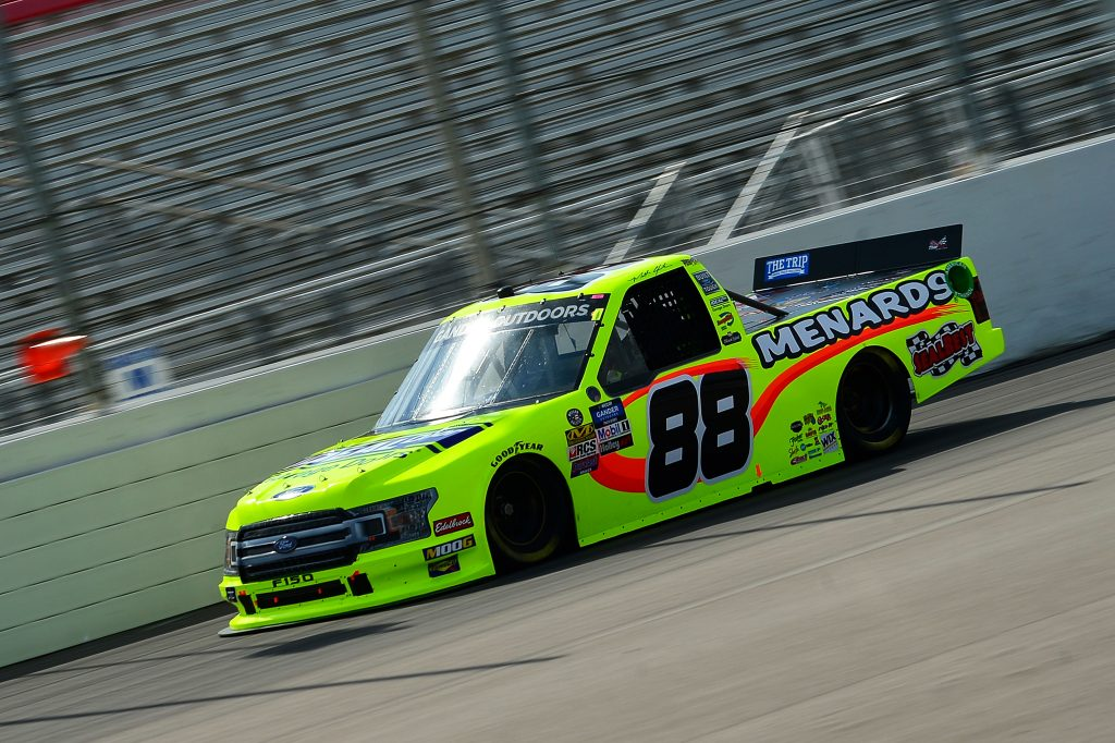MADISON, IL - JUNE 22: Matt Crafton, driver of the #88 Ideal Door/Menards Ford, drives during practice for the NASCAR Gander Outdoors Truck Series CarShield 200 presented by CK at Gateway Motorsports Park on June 22, 2019 in Madison, Illinois. (Photo by Jeff Curry/Getty Images) | Getty Images