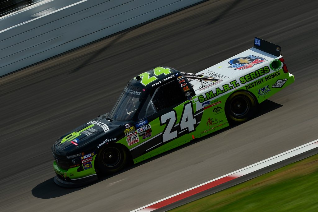 MADISON, IL - JUNE 22: Brett Moffitt, driver of the #24 Destiny Homes Chevrolet, drives during practice for the NASCAR Gander Outdoors Truck Series CarShield 200 presented by CK at Gateway Motorsports Park on June 22, 2019 in Madison, Illinois. (Photo by Jeff Curry/Getty Images) | Getty Images