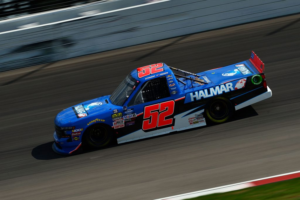 MADISON, IL - JUNE 22: Stewart Friesen, driver of the #52 Halmar International Chevrolet, drives during practice for the NASCAR Gander Outdoors Truck Series CarShield 200 presented by CK at Gateway Motorsports Park on June 22, 2019 in Madison, Illinois. (Photo by Jeff Curry/Getty Images) | Getty Images