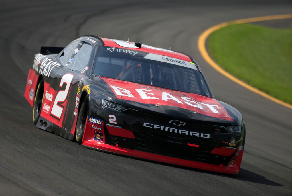 LONG POND, PENNSYLVANIA - MAY 31: Tyler Reddick, driver of the #2 TAME the BEAST Chevrolet, practices for the NASCAR Xfinity Series Pocono Green 250 at Pocono Raceway on May 31, 2019 in Long Pond, Pennsylvania. (Photo by Chris Trotman/Getty Images) | Getty Images