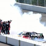 LONG POND, PENNSYLVANIA - JUNE 01: Cole Custer, driver of the #00 FIMS Manufacturing Ford, celebrates with a burnout after winning the NASCAR Xfinity Series Pocono Green 250 at Pocono Raceway on June 01, 2019 in Long Pond, Pennsylvania. (Photo by Jared C. Tilton/Getty Images) | Getty Images