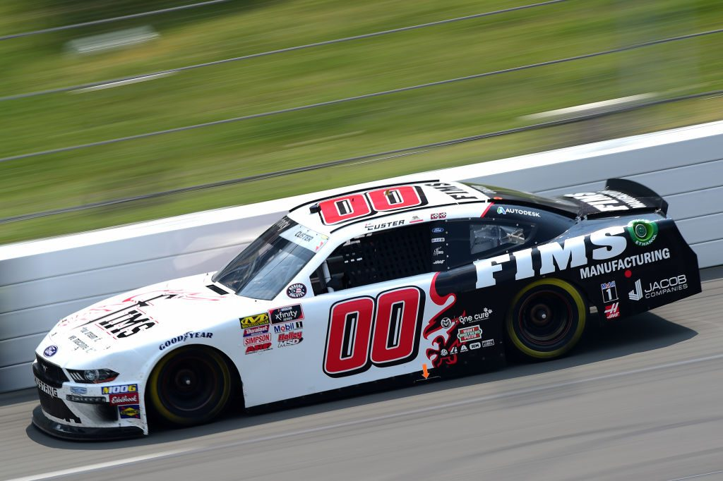LONG POND, PENNSYLVANIA - JUNE 01: Cole Custer, driver of the #00 FIMS Manufacturing Ford, races during the NASCAR Xfinity Series Pocono Green 250 at Pocono Raceway on June 01, 2019 in Long Pond, Pennsylvania. (Photo by Jared C. Tilton/Getty Images)   Getty Images