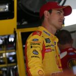 BROOKLYN, MICHIGAN - JUNE 07: Joey Logano, driver of the #22 Shell Pennzoil Ford, stands by his car during practice for the Monster Energy NASCAR Cup Series FireKeepers Casino 400 at Michigan International Speedway on June 07, 2019 in Brooklyn, Michigan. (Photo by Matt Sullivan/Getty Images) | Getty Images