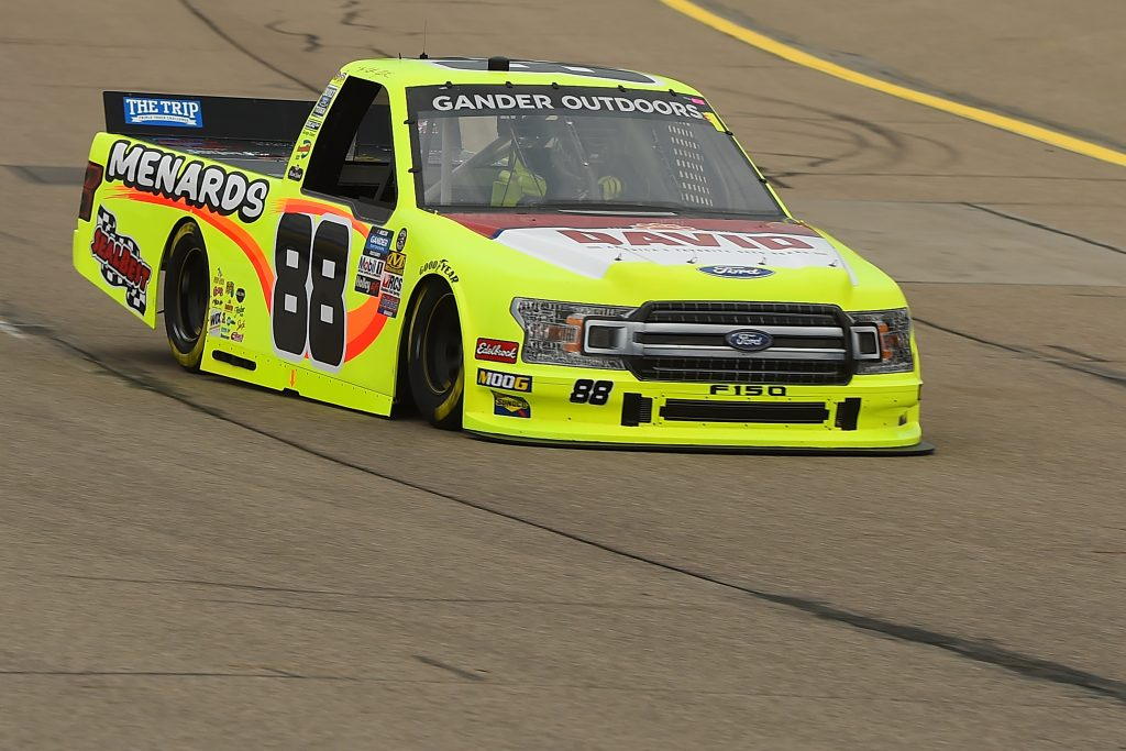 NEWTON, IOWA - JUNE 15: Matt Crafton, driver of the #88 Menards/Conagra Ford, drives during practice for the NASCAR Gander Outdoor Truck Series M&M's 200 at Iowa Speedway on June 15, 2019 in Newton, Iowa. (Photo by Stacy Revere/Getty Images) | Getty Images