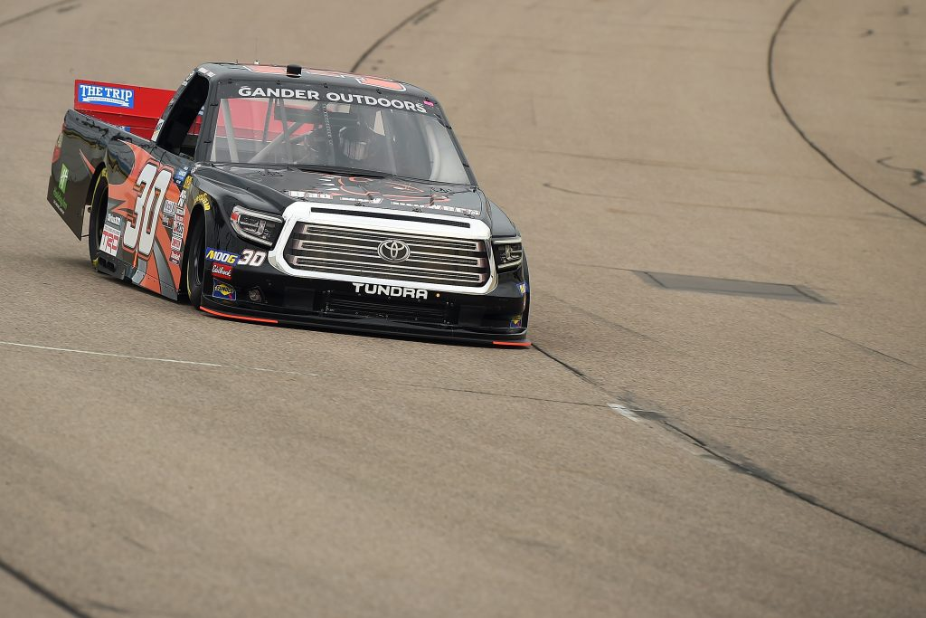 NEWTON, IOWA - JUNE 15: Brennan Poole, driver of the #30 Bad Boy Mowers Toyota, drives during practice for the NASCAR Gander Outdoor Truck Series M&M's 200 at Iowa Speedway on June 15, 2019 in Newton, Iowa. (Photo by Stacy Revere/Getty Images) | Getty Images