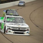NEWTON, IOWA - JUNE 15: Ross Chastain, driver of the #44 TruNorth/Paul Jr Designs Chevrolet, drives during practice for the NASCAR Gander Outdoor Truck Series M&M's 200 at Iowa Speedway on June 15, 2019 in Newton, Iowa. (Photo by Stacy Revere/Getty Images)   Getty Images