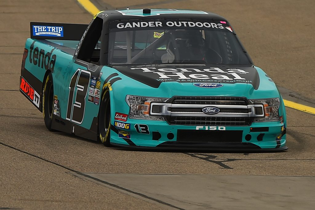 NEWTON, IOWA - JUNE 15: Johnny Sauter, driver of the #13 Tenda Products Ford, drives during practice for the NASCAR Gander Outdoor Truck Series M&M's 200 at Iowa Speedway on June 15, 2019 in Newton, Iowa. (Photo by Stacy Revere/Getty Images) | Getty Images