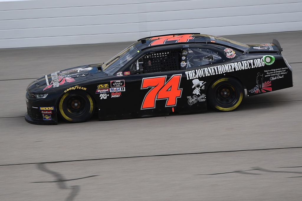 NEWTON, IOWA - JUNE 15: Mike Harmon, driver of the #74 Journey Home Project/Charlie Daniels Chevrolet, drives during the NASCAR Xfinity Series CircuitCity.com 250 at Iowa Speedway on June 15, 2019 in Newton, Iowa. (Photo by Stacy Revere/Getty Images) | Getty Images
