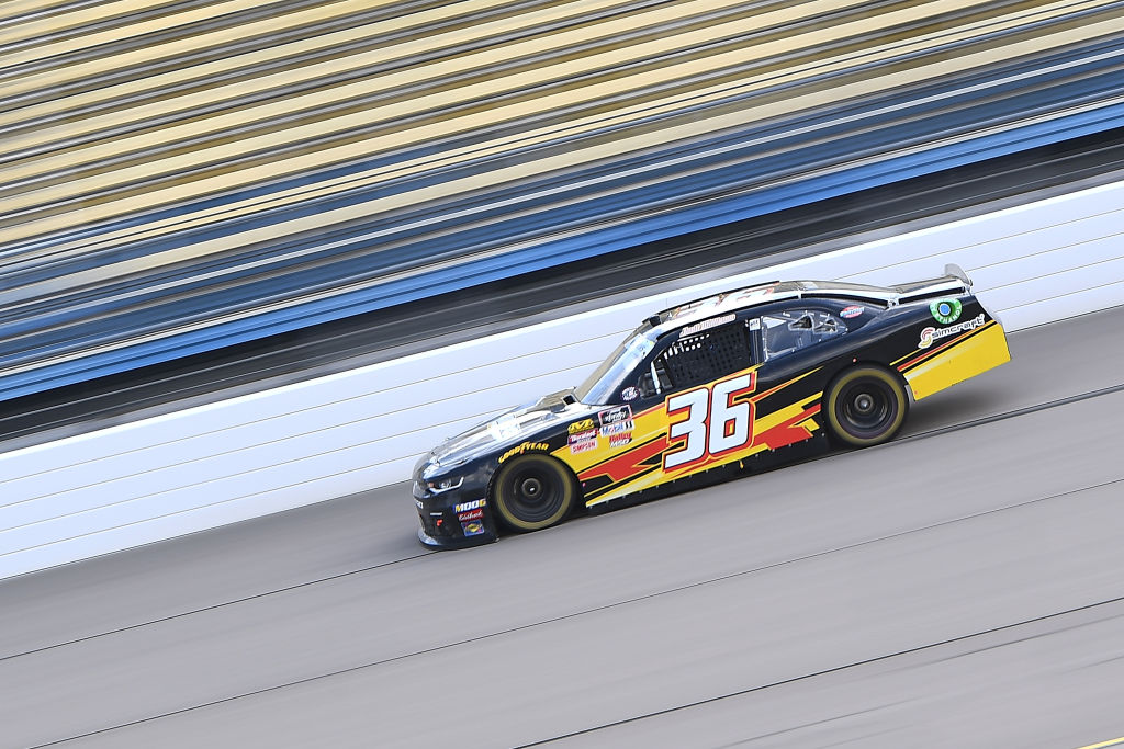 NEWTON, IOWA - JUNE 15: Josh Williams, driver of the #36 Starbrite Star Tron/Simcraft Chevrolet, drives during the NASCAR Xfinity Series CircuitCity.com 250 at Iowa Speedway on June 15, 2019 in Newton, Iowa. (Photo by Stacy Revere/Getty Images) | Getty Images