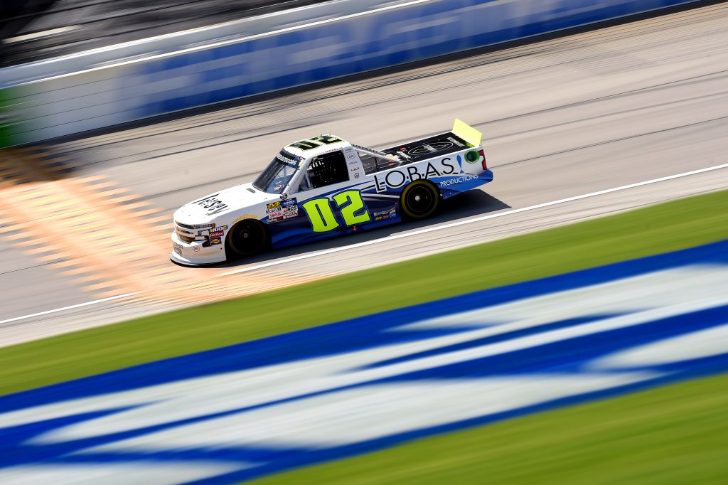 JOLIET, ILLINOIS - JUNE 27: Tyler Dippel, driver of the #02 Jersey Filmmaker Chevrolet, practices for the NASCAR Gander Outdoors Truck Series Camping World 225 at Chicagoland Speedway on June 27, 2019 in Joliet, Illinois. (Photo by Jared C. Tilton/Getty Images) | Getty Images
