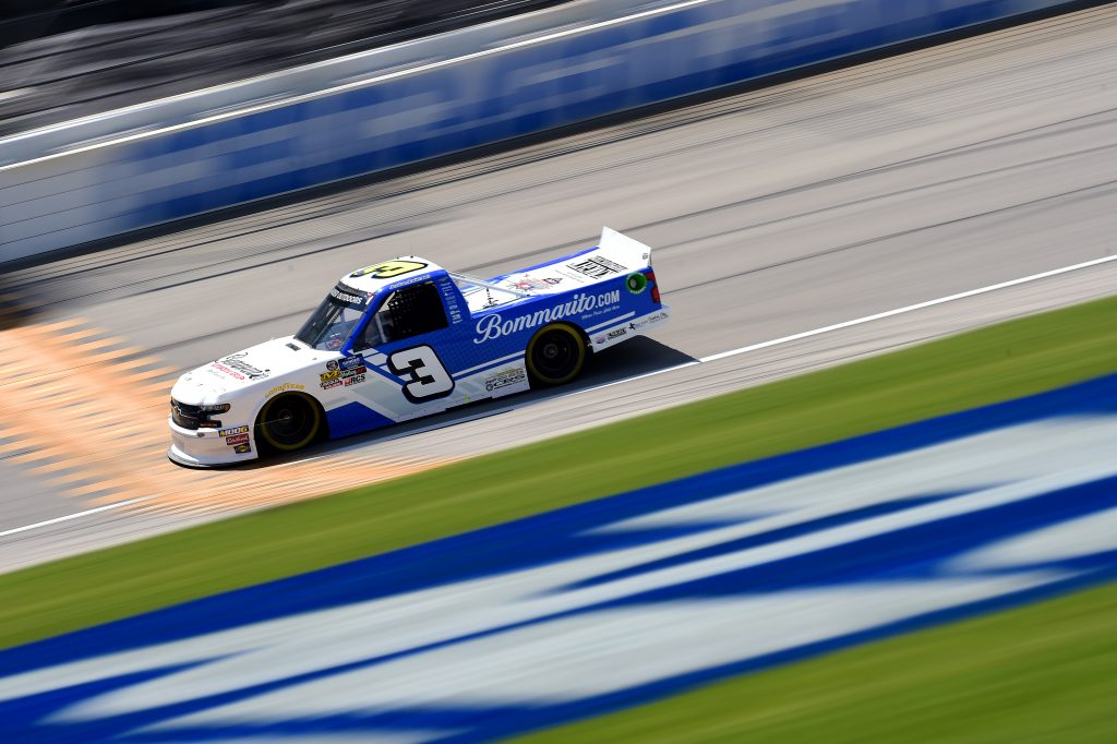 JOLIET, ILLINOIS - JUNE 27: Jordan Anderson, driver of the #3 Bommarito Automotive Group Chevrolet, practices for the NASCAR Gander Outdoors Truck Series Camping World 225 at Chicagoland Speedway on June 27, 2019 in Joliet, Illinois. (Photo by Jared C. Tilton/Getty Images) | Getty Images