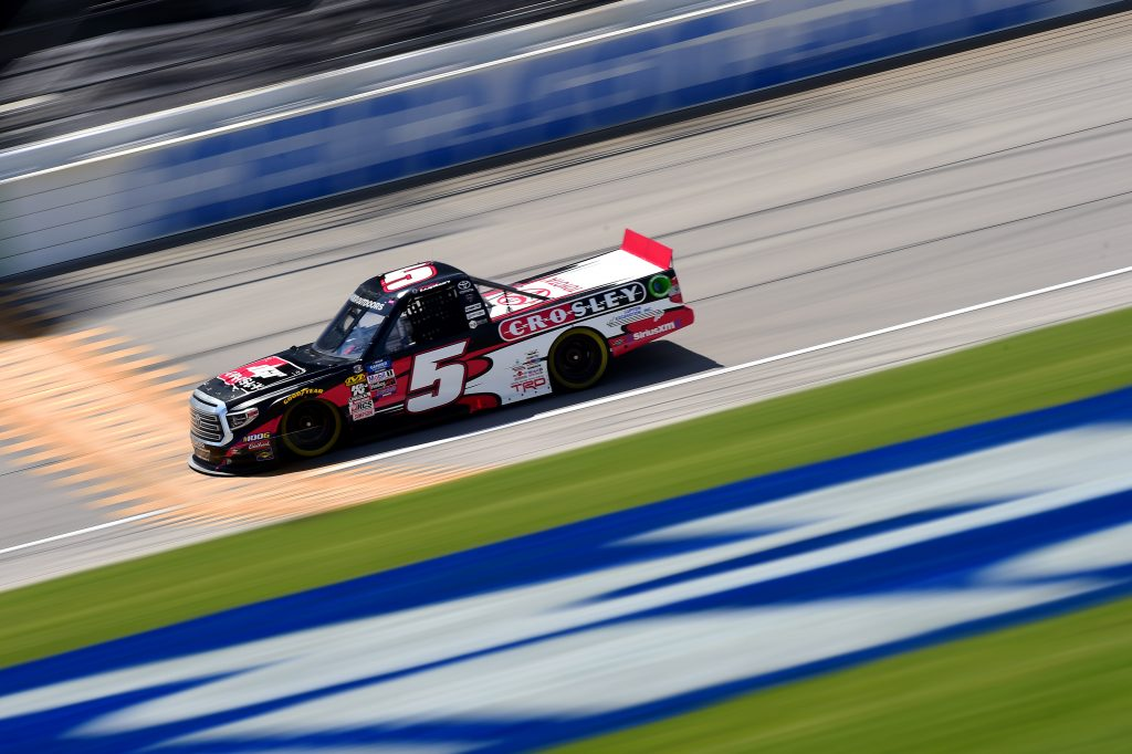 JOLIET, ILLINOIS - JUNE 27: Dylan Lupton, driver of the #5 DGR Crosley Toyota, practices for the NASCAR Gander Outdoors Truck Series Camping World 225 at Chicagoland Speedway on June 27, 2019 in Joliet, Illinois. (Photo by Jared C. Tilton/Getty Images) | Getty Images