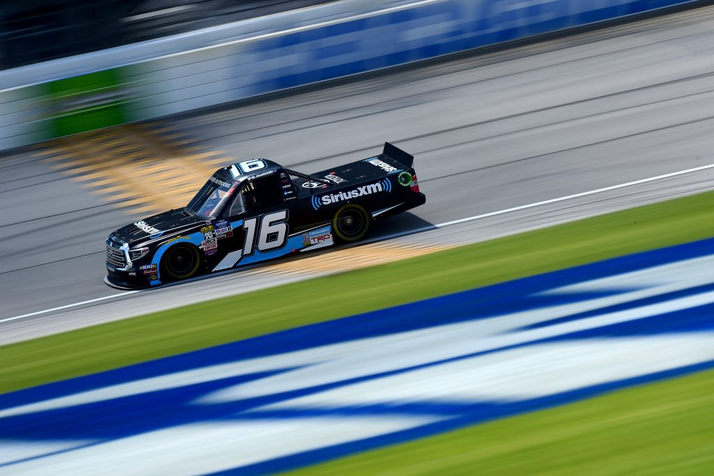 JOLIET, ILLINOIS - JUNE 27: Austin Hill, driver of the #16 SiriusXM Toyota, practices for the NASCAR Gander Outdoors Truck Series Camping World 225 at Chicagoland Speedway on June 27, 2019 in Joliet, Illinois. (Photo by Jared C. Tilton/Getty Images) | Getty Images