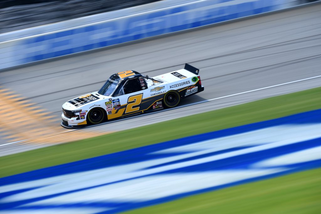 JOLIET, ILLINOIS - JUNE 27: Sheldon Creed, driver of the #2 Chevrolet Accessories Chevrolet, practices for the NASCAR Gander Outdoors Truck Series Camping World 225 at Chicagoland Speedway on June 27, 2019 in Joliet, Illinois. (Photo by Jared C. Tilton/Getty Images) | Getty Images