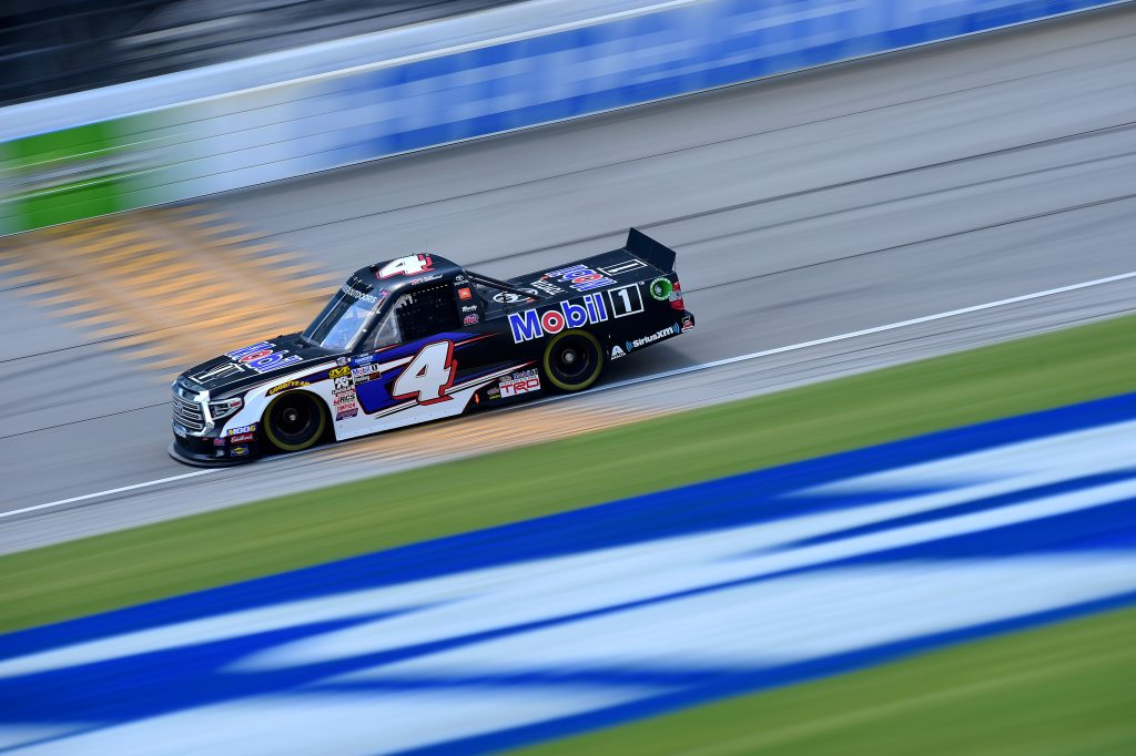 JOLIET, ILLINOIS - JUNE 27: Todd Gilliland, driver of the #4 Mobil 1 Toyota, practices for the NASCAR Gander Outdoors Truck Series Camping World 225 at Chicagoland Speedway on June 27, 2019 in Joliet, Illinois. (Photo by Jared C. Tilton/Getty Images) | Getty Images