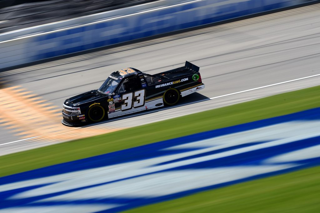 JOLIET, ILLINOIS - JUNE 27: Josh Bilicki, driver of the #33 Colonial Countertops Chevrolet, practices for the NASCAR Gander Outdoors Truck Series Camping World 225 at Chicagoland Speedway on June 27, 2019 in Joliet, Illinois. (Photo by Jared C. Tilton/Getty Images) | Getty Images