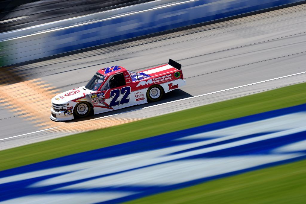 JOLIET, ILLINOIS - JUNE 27: Austin Wayne Self, driver of the #22 GO TEXAN Chevrolet, practices for the NASCAR Gander Outdoors Truck Series Camping World 225 at Chicagoland Speedway on June 27, 2019 in Joliet, Illinois. (Photo by Jared C. Tilton/Getty Images) | Getty Images