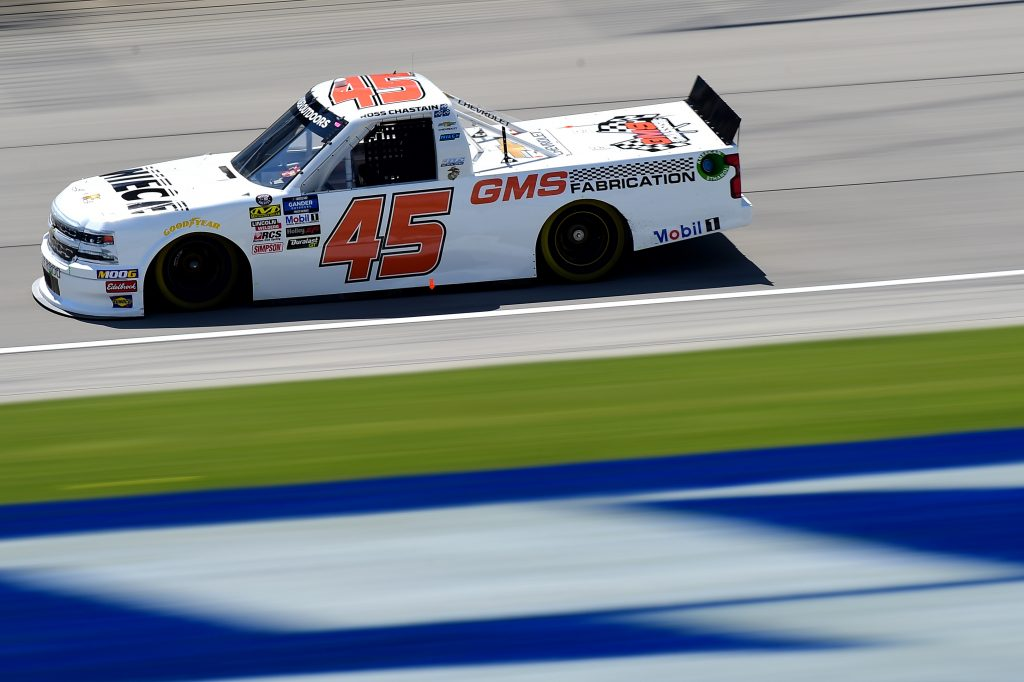 JOLIET, ILLINOIS - JUNE 27: Ross Chastain, driver of the #45 Niece Motorsports Chevrolet, practices for the NASCAR Gander Outdoors Truck Series Camping World 225 at Chicagoland Speedway on June 27, 2019 in Joliet, Illinois. (Photo by Jared C. Tilton/Getty Images) | Getty Images