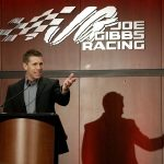 HUNTERSVILLE, NC - JANUARY 11: NASCAR driver Carl Edwards talks about his career in a stock car during a press conference to announce his retirement at Joe Gibbs Racing on January 11, 2017 in Charlotte, North Carolina. (Photo by Bob Leverone/Getty Images) | Getty Images