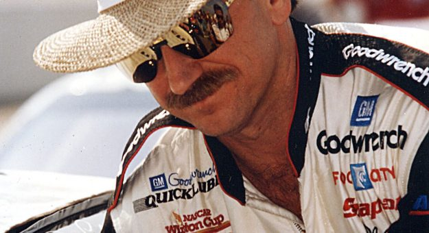 DARLINGTON, SC - MARCH 1994:  Dale Earnhardt recorded his ninth career win at Darlington in 1994, just one shy of David Pearson?s all-time mark of 10.  (Photo by ISC Archives via Getty Images)