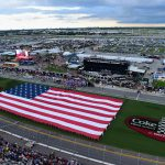 DAYTONA BEACH, FL - JULY 07:  An American Flag is displayed on the infield prior to the Monster Energy NASCAR Cup Series Coke Zero Sugar 400 at Daytona International Speedway on July 7, 2018 in Daytona Beach, Florida.  (Photo by Jared C. Tilton/Getty Images) | Getty Images