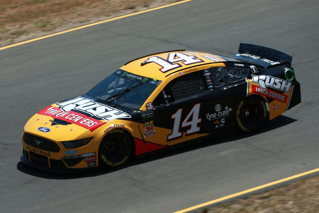 SONOMA, CALIFORNIA - JUNE 21: Clint Bowyer, driver of the #14 Rush Truck Centers Ford, practices for the Monster Energy NASCAR Cup Series Toyota/Save Mart 350 at Sonoma Raceway on June 21, 2019 in Sonoma, California. (Photo by Sean Gardner/Getty Images) | Getty Images
