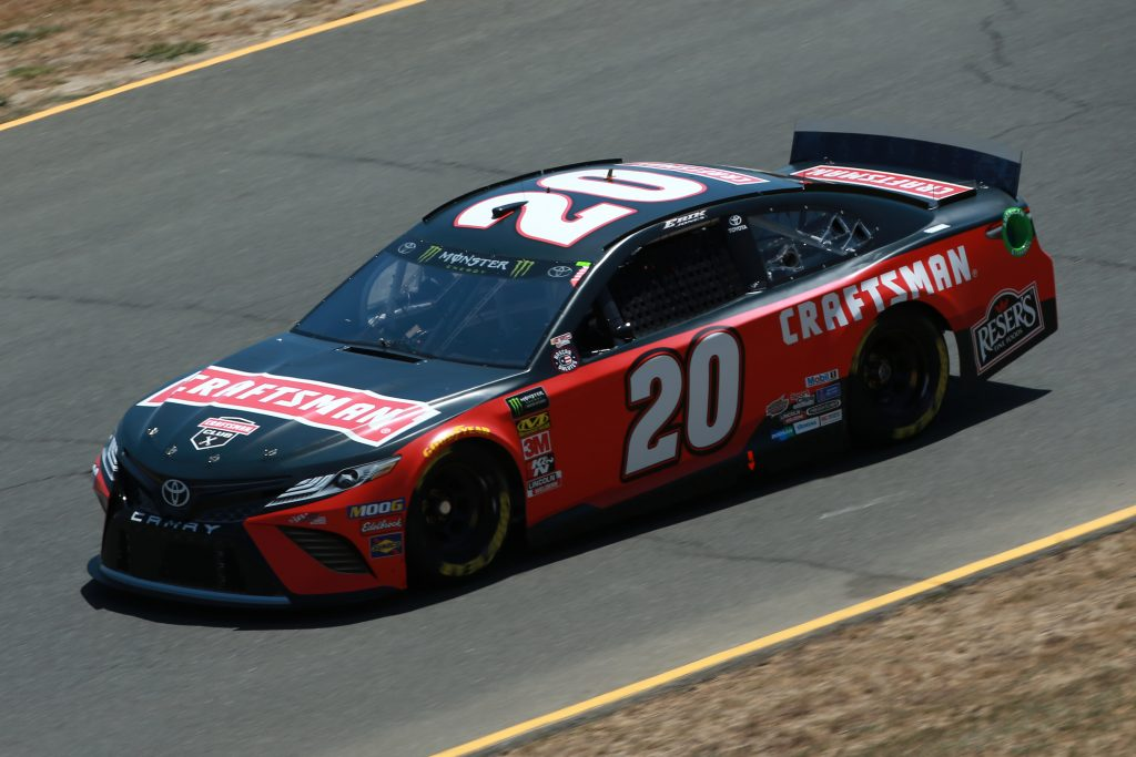 SONOMA, CALIFORNIA - JUNE 21: Erik Jones, driver of the #20 Craftsman Toyota, practices for the Monster Energy NASCAR Cup Series Toyota/Save Mart 350 at Sonoma Raceway on June 21, 2019 in Sonoma, California. (Photo by Sean Gardner/Getty Images) | Getty Images