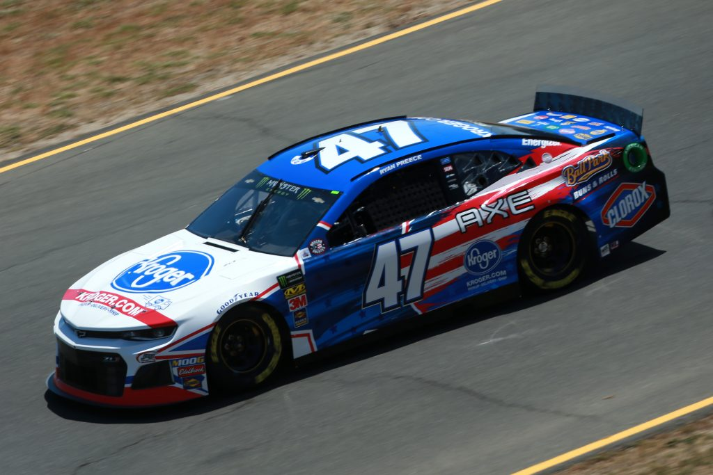 SONOMA, CALIFORNIA - JUNE 21: Ryan Preece, driver of the #47 Kroger Chevrolet, practices for the Monster Energy NASCAR Cup Series Toyota/Save Mart 350 at Sonoma Raceway on June 21, 2019 in Sonoma, California. (Photo by Sean Gardner/Getty Images)   Getty Images