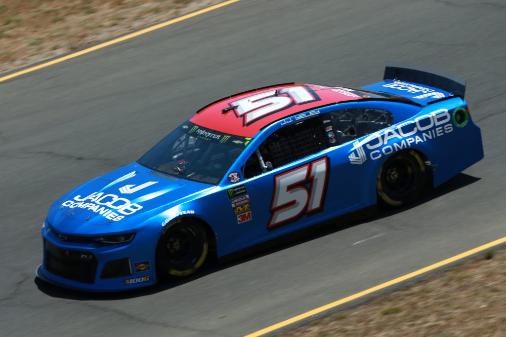 SONOMA, CALIFORNIA - JUNE 21: JJ Yeley, driver of the #51 Jacob Companies Chevrolet, practices for the Monster Energy NASCAR Cup Series Toyota/Save Mart 350 at Sonoma Raceway on June 21, 2019 in Sonoma, California. (Photo by Sean Gardner/Getty Images) | Getty Images