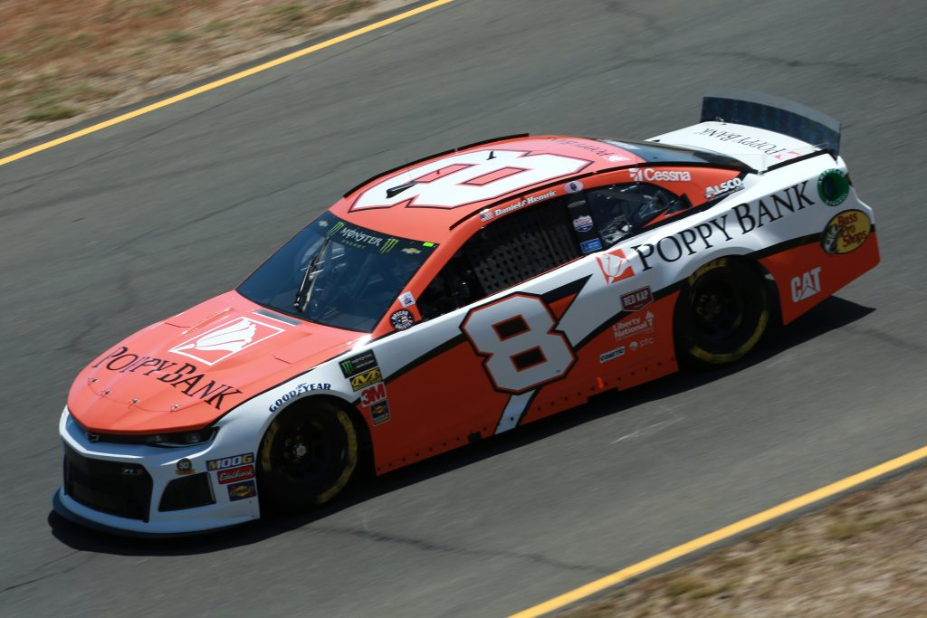 SONOMA, CALIFORNIA - JUNE 21: Daniel Hemric, driver of the #8 Poppy Bank Chevrolet, practices for the Monster Energy NASCAR Cup Series Toyota/Save Mart 350 at Sonoma Raceway on June 21, 2019 in Sonoma, California. (Photo by Sean Gardner/Getty Images) | Getty Images