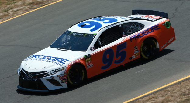 SONOMA, CALIFORNIA - JUNE 21: Matt DiBenedetto, driver of the #95 Procore Thanks DW Throwback Toyota, practices for the Monster Energy NASCAR Cup Series Toyota/Save Mart 350 at Sonoma Raceway on June 21, 2019 in Sonoma, California. (Photo by Sean Gardner/Getty Images) | Getty Images